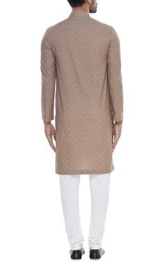 Polka dot kurta with churidar