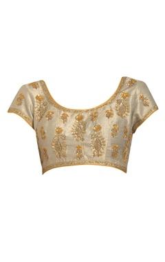 Zardozi border embroidered sari with blouse