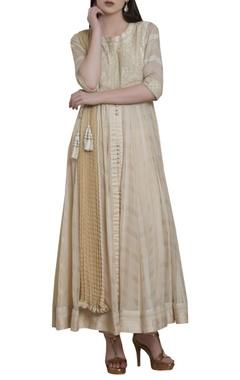 Shyam Narayan Prasad Embroidered anarkali kurta set with waistbelt