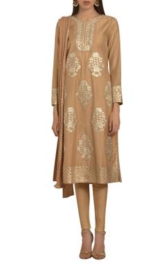 Shyam Narayan Prasad Gota patti embroidered straight fit kurta set