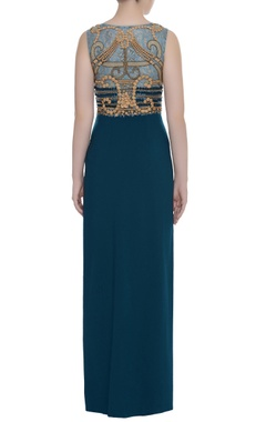Embellished fitted gown