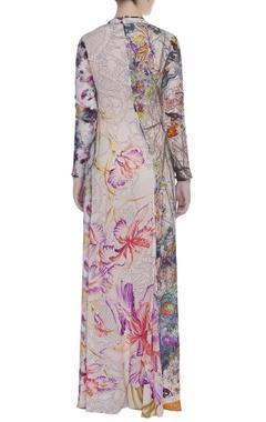 Printed straight maxi dress