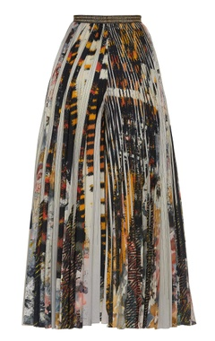 Printed & pleated palazzos