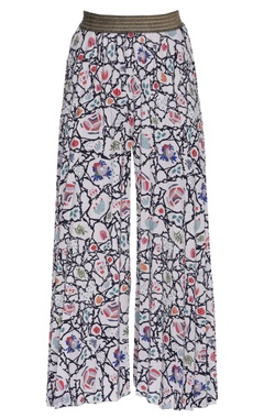 Printed flared palazzos