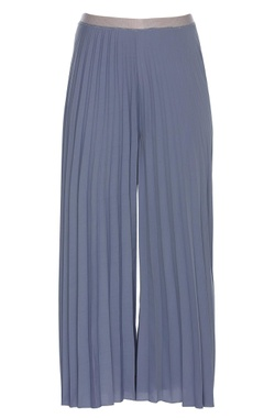 Pleated flared palazzos