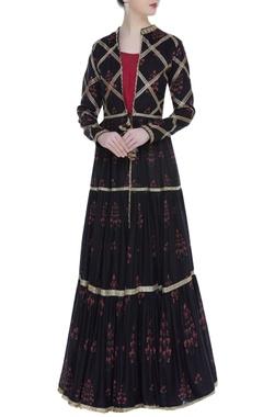 Vikram Phadnis Printed & embroidered jacket kurta