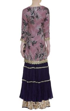 Sequin embroidered sharara kurta set