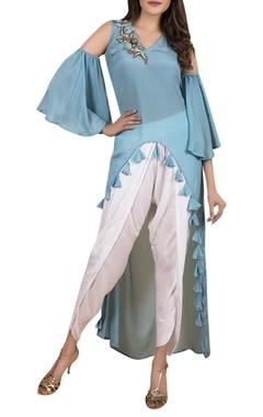High low tunic with dhoti pants