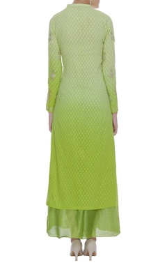 Embroidered straight kurta with palazzo pants & dupatta