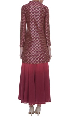 Block print kurta with lehenga & dupatta