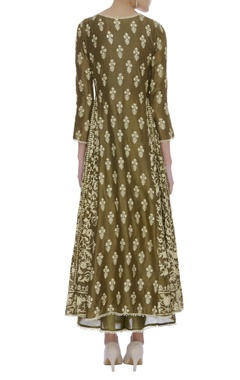 Embroidered kurta with palazzo pants & dupatta