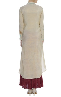 Asymmetrical kurta & sharara set