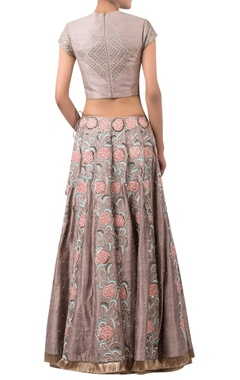 Floral embroidered lehenga set