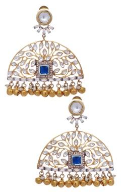 Stone & pearl chandbalis