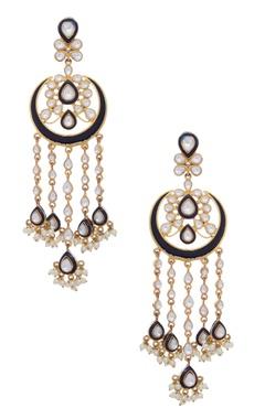 MOH-MAYA by Disha Khatri Hanging earrings with kundan
