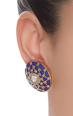Kundan stone stud earrings