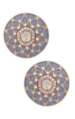 MOH-MAYA by Disha Khatri Kundan stone stud earrings