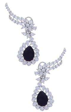 MOH-MAYA by Disha Khatri Earlobe stone encrusted earrings