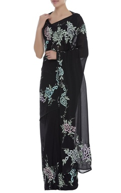 Dilnaz Karbhary Thread & Sequins Embroidered Saree with blouse