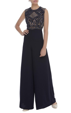 Dilnaz Karbhary Sequin & Cutdana Embroidered Jumpsuit