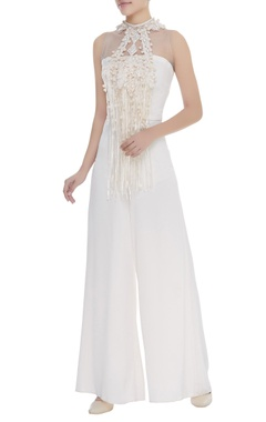 Dilnaz Karbhary Crochet And Lace Embroidered Jumpsuit