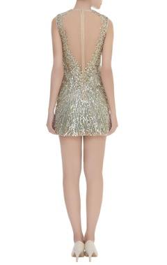 Sequins & Crystal Embroidered Sheath Dress