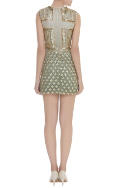 Sequins & Pearl Embroidered Short Dress