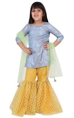 Chiquitita kids couture by Payal Bahl Sequin embroidered sharara kurta set