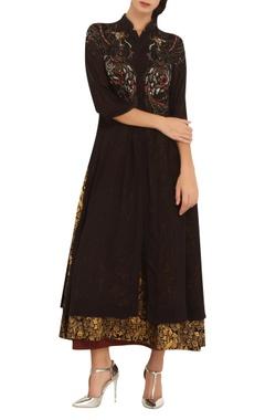 Anju Modi Printed & embroidered tunic with inner