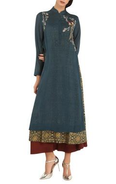Anju Modi Printed & embroidered tunic