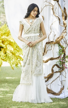 Varun Bahl Embroidered sari with blouse