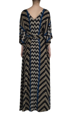 Zig zag Print kaftan dress