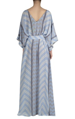 Geometric Print kaftan dress