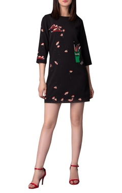 Pencil shaving embroidered dress