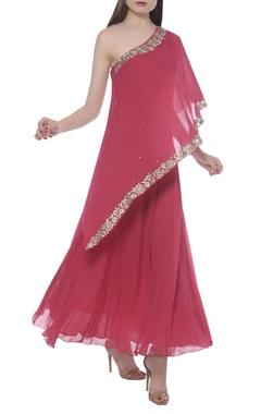 Namrata Joshipura Embroidered one shoulder dress