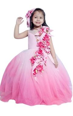Lil Angels Floral embellished gown