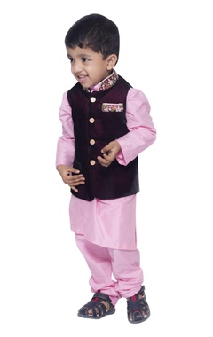 Embroidered nehru jacket with kurta set