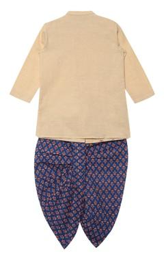 Printed bandhgala kurta with dhoti pants