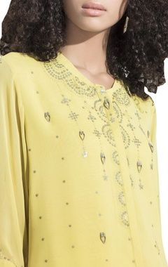 Embroidered short shirt tunic