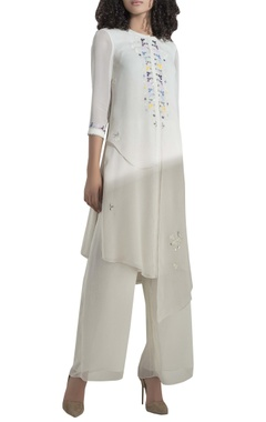 AM:PM Multicoloured embroidered long tunic