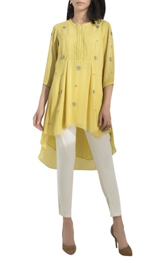 AM:PM Floral Embroidered High-low Kurta
