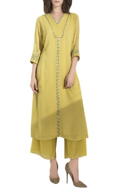 AM:PM Embroidered Tunic With Palazzo