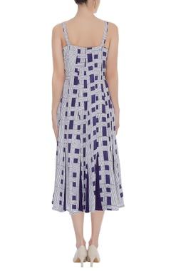 Block printed Midi Dress