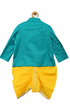Fish embellished angrakha with dhoti pants