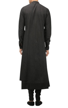 Draped kurta with churidar