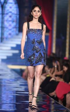 Sequin & Salli Embroidered Shift Dress