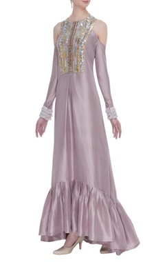 Manish Malhotra Lilac dupion crepe embroidered tunic