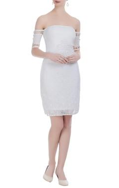 Ivory lace tunic dress