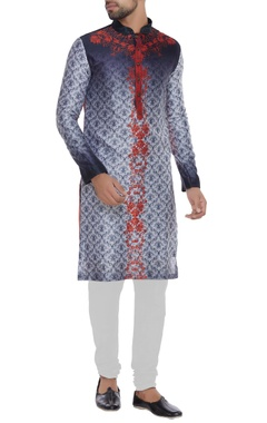 Shaded printed kurta set