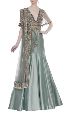 Rocky Star Fusion embroidered mermaid gown